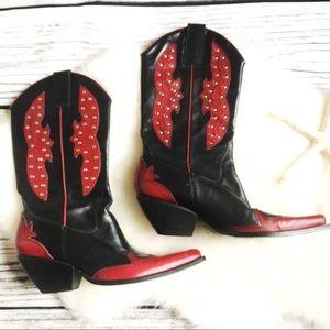 BCBG Girls • Cowboy Boots 2 Tone Leather Size 6